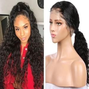 Eva Hair 130 Density 13X6 Curly Lace Front Wigs Pre Plucked Brazilian Human Hair Lace Wigs 【0010】