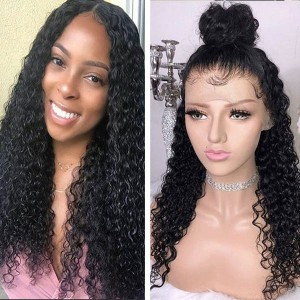 Eva Hair 130 Density 13X6 Brazilian Water Wave Lace Front Human Hair Wigs Pre Plucked (011)