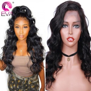Eva Hair 130 Density 13X4 Brazilian Body Wave Human Hair Lace Front Wigs Pre Plucked【032】