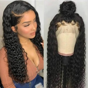 26-34 Inches Eva Hair 150 Density 13x6 Brazilian Pre Plucked Curly Lace Front Wigs With Baby Hair【H001】
