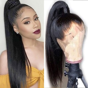 Eva Hair Full Lace Wigs straight Hair 150% Density Brazilian Remy Hair (Y102)