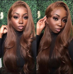 Eva Hair Ombre Color 150 Density Pre Plucked 13X6 Brazilian Body Wave  Lace Front Human Hair Wigs With Baby Hair Bleached Knots【T033】
