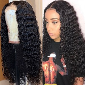 Eva Hair Glueless Sexy Curly Pre Plucked 180 Density Brazilian Remy Hair Bleached Knots 360 Lace Frontal Wig With Baby Hair Bleached Knots【W039】