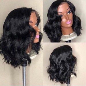 Split  Payments Available!!  Eva 13x6 Lace Front Human Hair Wigs Ocean Wavy Bob Wig Pre-Plucked【W158】