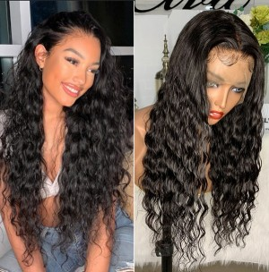 Eva Loose Deep Wave Pre Plucked Water Wave 13x6 Lace Front Brazilian Human Hair Wigs With Baby Hair【W141】
