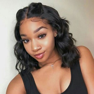 Eva Hair 2019 New Short 370 Lace Wigs 150 Density Brazilian Natural Wave Hair (W159)