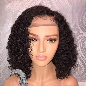 Eva Hair 2019 New 150 Density Brazilian 370 Lace Human Hair Bob Wigs Pre Plucked【W145】