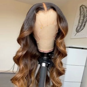 Transform your old Hair! Loose Wave Ash Brown Ombre Color 13x6 Wigs Pre Plucked Natural Hairline.Hurry before we sell out.【T057】