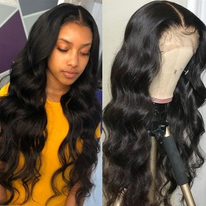 26-34 Inches Eva Hair 150 Density 13x6 Brazilian Pre Plucked Body Wave Lace Front Wigs Bleached Knots With Baby Hair【H008】
