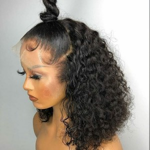Eva Hair 150Density Brazilian Curly Bob13X6 Lace Front Wigs Short Human Hair Bob Wigs【W180】