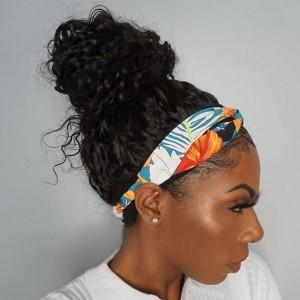 Eva Hair New Fashion 150 Density Headband Wig Brazilain Curly Human Hair Wig【W256】
