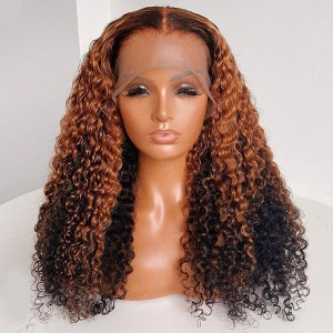 Eva Hair Yonce Wig 150 Density Ombre Color 13x6 Brazilian Curly Lace Front Human Hair Wigs Pre Plucked Natural Hairline With Baby Hair 【T031】