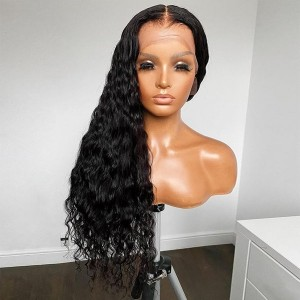 Eva Hair Pre Plucked 360 Lace Frontal Human Hair Wig Brazilian Curly Hair 180% Density With Baby Hair Bleached Knots【W300】