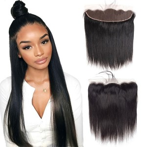 13x4 Lace Frontal Closure  HD Human Hair Swiss Lace Closure Transparent Middle Free Three Part Top Closures【H031】