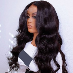 Eva Pre Plucked Raw Cambodian Body Wave 13x6 Lace Front Wigs WIth Transparent Swiss Lace【W318】