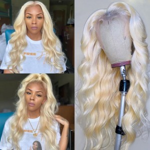 Eva Hair 13x6 Lace Front Wig Pre Plucked Brazilian Remy Hair 613# Silky Body Wave Wig Glueless【W041】