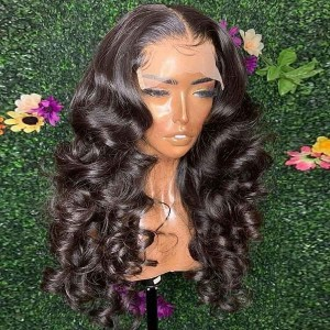 Eva 150% density  Hair 13x6 Lace Front Human Hair Wigs For Women Black Brazilian Remy Hair Wigs Pre Plucked Bleached Knotes【W214】