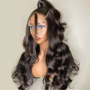 Eva 150% density 13x6 Body Wave Lace Front Human Hair Wigs For Women Black Brazilian Remy Hair Wigs Pre Plucked Bleached Knotes【W092】