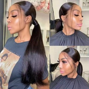 Eva Hair HD Lace Wig 150 Density 13x6 Brazilian Silky Stright Lace Front Human Hair Wigs Pre Plucked 【W109】