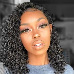 Eva Hair 150 Density 13X6 Lace Front Wigs Brazilian Short Curly Hair Wig 【W128】