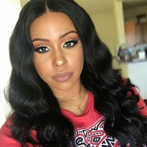 Eva Hair 150 Density Brazilian Body Wave Silk Base Lace Front Wig With Baby Hair (w99)