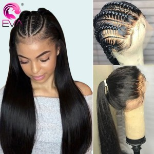 Eva Hair 150 Density 370 Fake Scalp Wig Brazilian Straight 370 Lace Human Hair Wigs【W191】