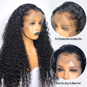 Eva Hair 150 Density Brazilian Water Wave Full Lace Human Hair Wig【W118】
