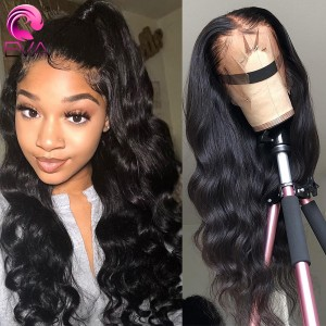 Eva Hair Pre Plucked 150% Density Brazilian Remy Hair Body Wave 13x6 Lace Front Wigs Bleached Knots【Y121】