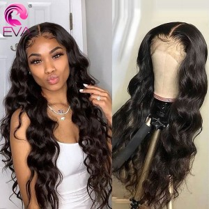 Eva Hair Pre Plucked Density Brazilian Loose Wave 360 Lace Frontal Human Hair Wig With Baby Hair Bleached Knots【W076】