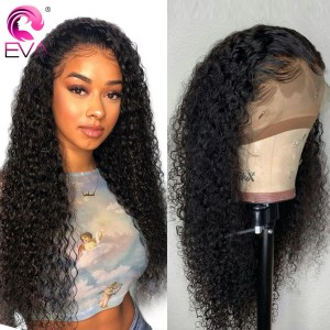 Eva Hair 360 Lace Frontal Wigs Curly 250% Density Remy Hair【Y105】