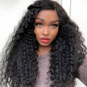 Eva Hair Pre Plucked 150% Density Silk Base Lace Front Human Hair Wig Brazilian Curly Remy Hair With Baby Hair【Y040】