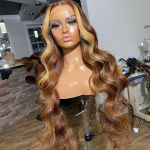 OMG! SHORT OR LONG WIG? Classy Wave Highlight Color 4#H27# 13x6 Lace Front Human Hair Wigs【T089】