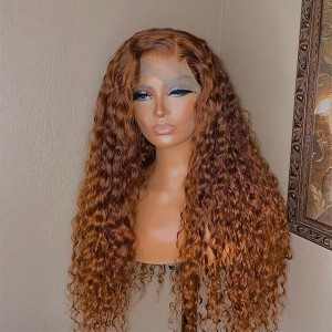 Ginger Color 13x6 Brazilian Lace Front Human Hair Wigs Pre Plucked Natural Hairline With Baby Hair Eva【T090】