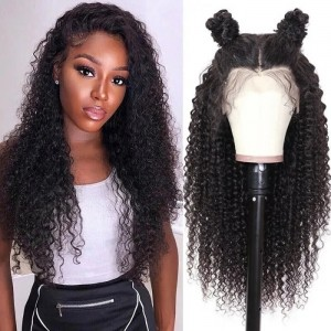 Eva Hair 2019 New 150 Density Brazilian Curly 370 Lace Human Hair Wigs【W153】