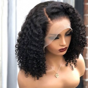 Eva Hair Pre Plucked 360 Lace Frontal Human Hair Wig Brazilian Curly Hair 180% Density With Baby Hair Bleached Knots【W013】