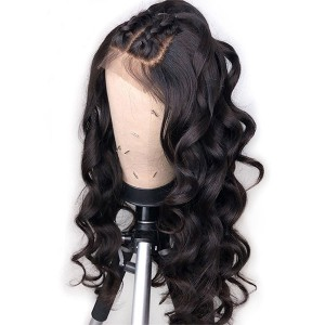 Eva Hair Glueless 150 Density Brazilian Pre Plucked Loose Wave 370 Fake Scalp Wig Bleached Knots Human Hair Wigs With Baby Hair【W037】