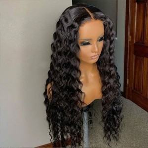 Eva 150% density 13x6 Curly Wig Lace Front Human Hair Wigs For Women Black Brazilian Remy Hair Wigs【W042】