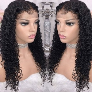 Eva Hair 150 Density Water Wave 360 Lace Wig Brazilian 360 Lace Frontal Wig Pre Plucked【015】