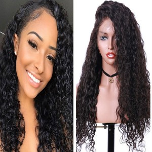 Eva Hair 250 Density Pre Plucked Brazilian Curly Human Remy Hair Bleached Knots 360 Lace Frontal Wig With Baby Hair 【W087】