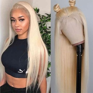 Eva Hair 13x6 Lace Front Wig Pre Plucked Brazilian Remy Hair 613# Silky Straight Wig Glueless【W091】