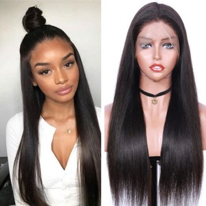 Eva Hair 150 Density Brazilian Silk Base Lace Front Human Hair Wig Pre Plucked【W095】