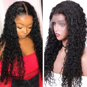 Eva Hair 150 Density Brazilian Curly Silk Base Lace Front Wig Pre Plucked【W096】
