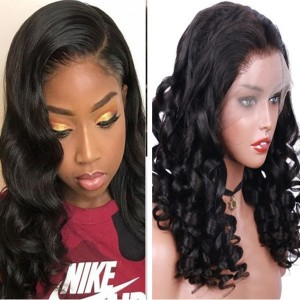 Eva Hair 150 Density Brazilian Loose Wave Silk Base Lace Front Wig With Baby Hair【W098】