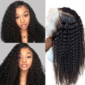 Eva Hair 150 Density Curly 13x6 Pre Plucked Brazilian Lace Front Human Hair Wig【W103】