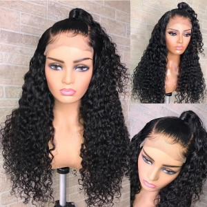 Eva Hair 130 Density Pre Plucked Full Lace Human Hair Wig Bleached Knots Brazilian Remy Hair With Baby Hair【W116】