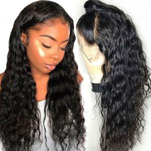Eva Hair 130 Density Pre Plucked Brazilian Water Wave Full Lace Human Hair Wig【W119】