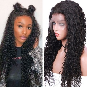 Eva Hair 130 Density 13X6 Pre Plucked Brazilian Curly Lace Front Human Hair Wigs 【W134】