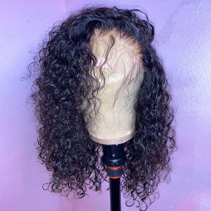 Eva Hair 130 Density 13X4 Brazilian Curly Lace Front Human Hair Wigs Pre Plucked with Baby Hair【W152】