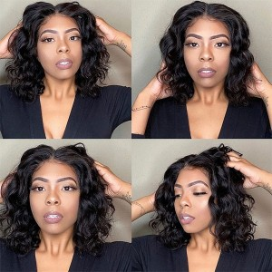 Eva Hair 2019 New Short 370 Lace Wigs 150 Density Brazilian Natural Wave Hair【W159】