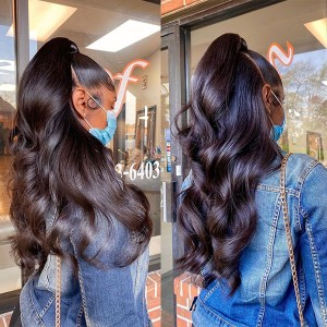 Eva Hair 180% Density Pre Plucked Brazilian Human Hair 360 Lace Frontal Wig Body Wave With Baby Hair Bleachd Knots【W173】